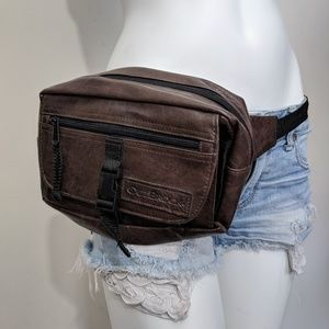 Outbrook brown faux leather fanny pack